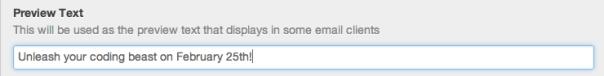 HubSpot Email PreHeader Text